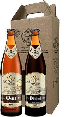 Pack 2 Cervejas Fritz - Weiss + Dunkel - 500ml