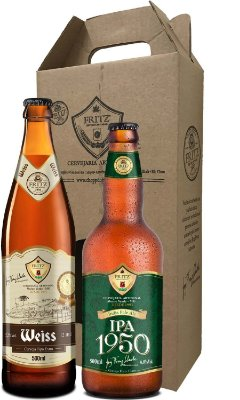 Pack 2 Cervejas Fritz - Weiss + IPA1950 - 500ml