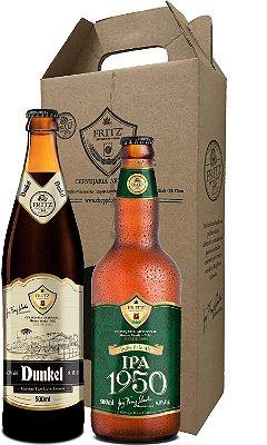 Pack 2 Cervejas Fritz - Dunkel + IPA1950 - 500ml