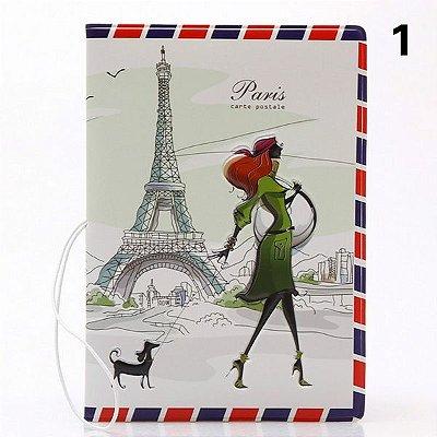 Capa de passaporte Paris - cód.135