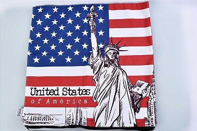 Capa de Almofada Estátua da Liberdade - cód. 015