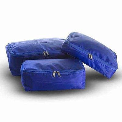 Organizador Para Malas Com 3 Peças- Azul