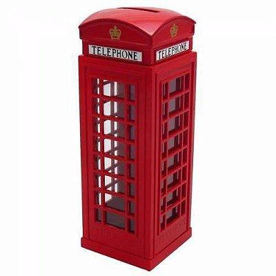 Cabine Telefone Londres em Metal e Cofre