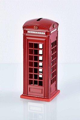 Cofre Cabine Telefone Londres em Metal