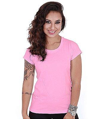 Camiseta Básica Baby Look Rosa