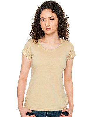 Camiseta Básica Baby Look Bege