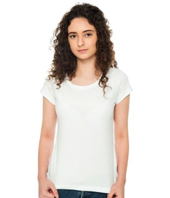 Camiseta Básica Baby Look Branca