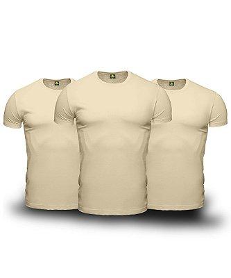 Combo 03 Camisetas Básicas Beges