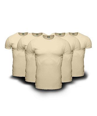 Combo 05 Camisetas Básicas Beges