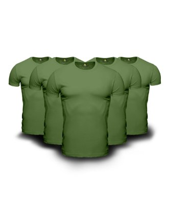 Combo 05 Camisetas Básicas Verdes