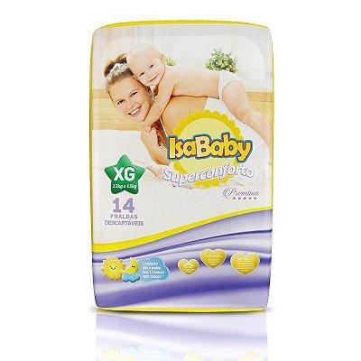 Fralda IsaBaby Premium Jumbinho XG 14 Unidades