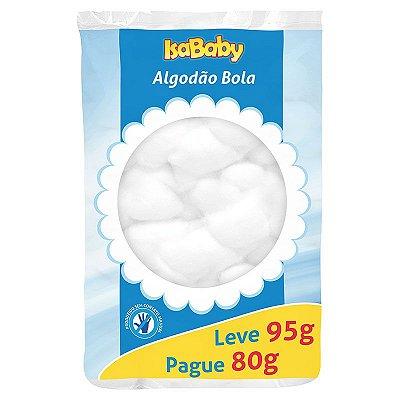 Algodão Bola IsaBaby Leve 95g Pague 80g
