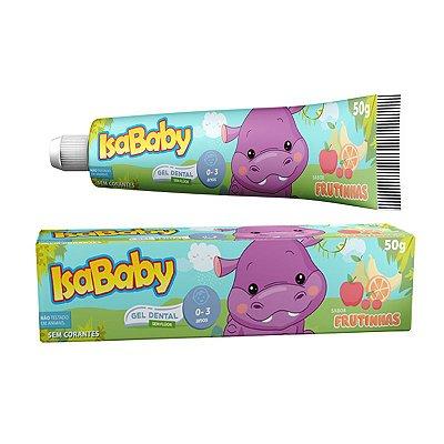 Gel Dental IsaBaby Zoo sem Flúor Frutinhas