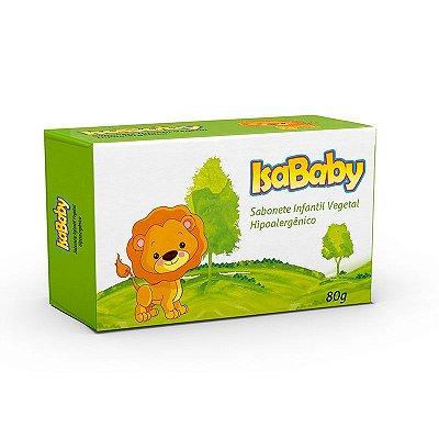 Sabonete Infantil Vegetal IsaBaby Zoo Verde 80g