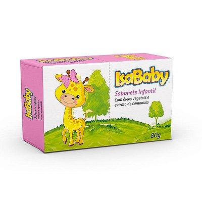 Sabonete Infantil Vegetal IsaBaby Zoo Rosa 80g
