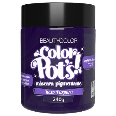 Máscara Pigmentante Color Pot's! Roxo Púrpura 240g - Beauty Color