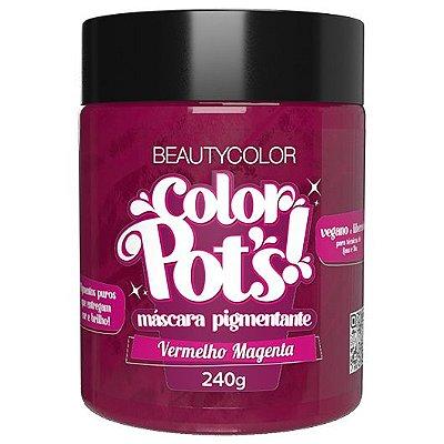 Máscara Pigmentante Color Pot's! Vermelho Magenta 240g - Beauty Color