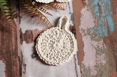 Kit 2 Disco Em Crochê De Algodão Ecológico - Demaquilante - Ecopad