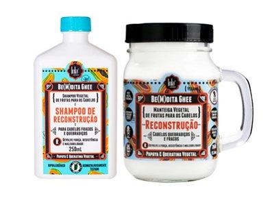 Kit Ghee Reconstrução Papaya & Queratina Vegetal - Lola Cosmetics