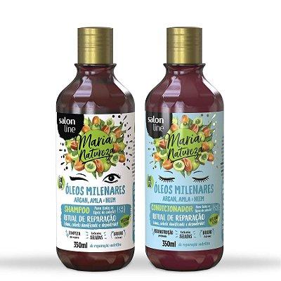 Kit Óleo Milenares Shampoo e Condicionador Maria Natureza - Salon Line