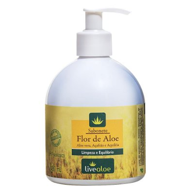 Sabonete Líquido Flor de Aloe 480ml - Livealoe