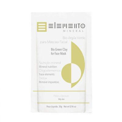 Bio Argila verde máscara facial 30g – Elemento Mineral
