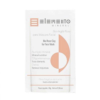 Bio Argila Rosa máscara facial 30g – Elemento Mineral