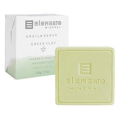 Sabonete Facial de Argila Verde Natural 100g – Elemento Mineral