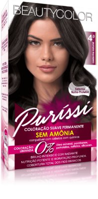 Coloração Suave Permanente Sem Amônia Puríssi - Castanho Natural 4.0