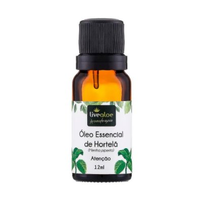 Óleo Essencial Natural de Hortelã 12ml – Livealoe