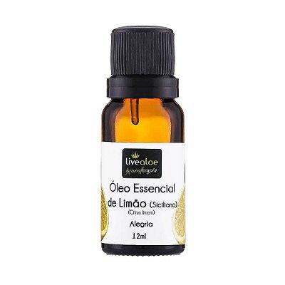 Óleo Essencial Natural de Limão Siciliano 12ml – Livealoe