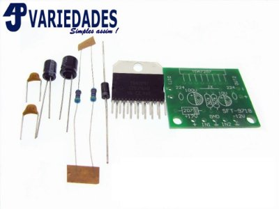 Kit para montar placa amplificadora 2X15W RMS chipamp CI TDA7297