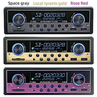 Auto Rádio MP3/Bluetooth/USB/SD com saída 5v para carregar celulares, GPS etc
