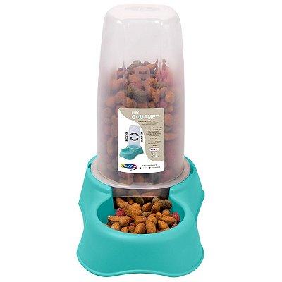 Bebedouro ou Comedouro Flex Gourmet 3L Plast Pet