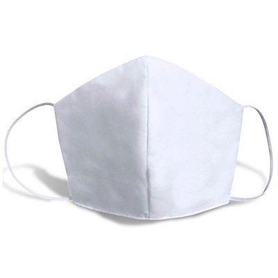 Kit 50 Máscaras de Tecido Lavável Branca com Dupla Proteção