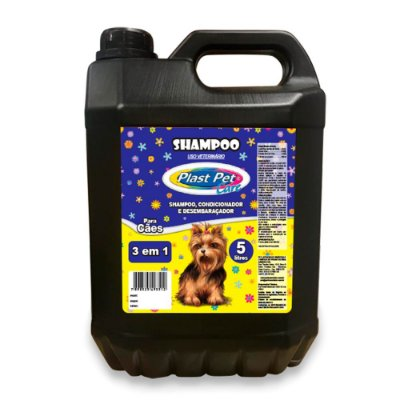 Shampoo, Condicionador e Desembaraçador Plast Pet 5L