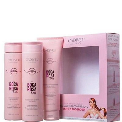 Cadiveu By Boca Rosa Hair Kit Shampoo 250ml + Condicionador 250ml + Proteína 150ml