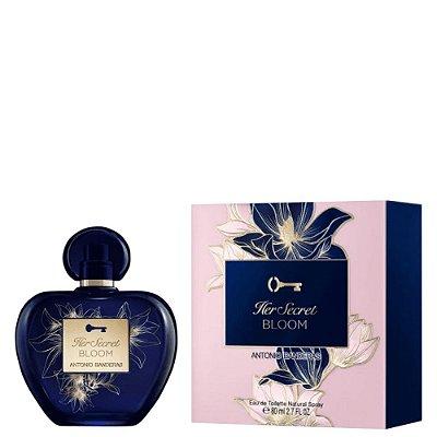 Antonio Banderas Her Secret Bloom Perfume Feminino Eau de Toilette 80ml