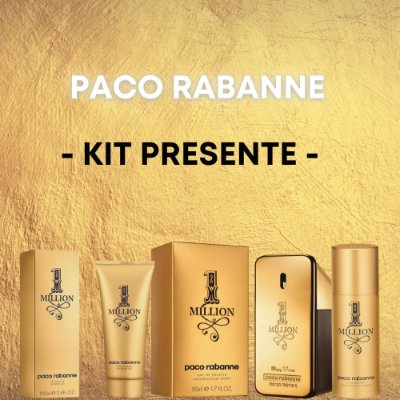 Kit Paco Rabanne 1 Million Masculino
