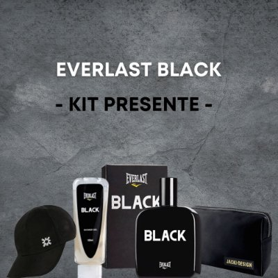 Everlast Black Kit Presente Masculino