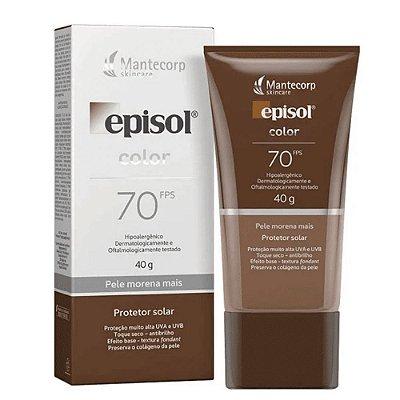 Mantecorp Protetor Solar Episol Color Morena Mais Fps 70 40g
