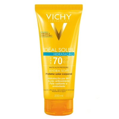 Vichy Protetor Solar Idéal Soleil Hydrasoft FPS70 200ml