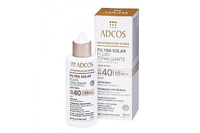 Adcos Filtro Solar Fluid Tonalizante FPS40 Peach 50ml