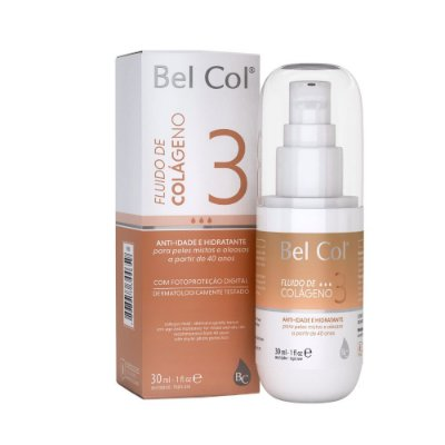 Bel Col Fluido de Colageno 3 Hidratante e Anti-Idade 30ml