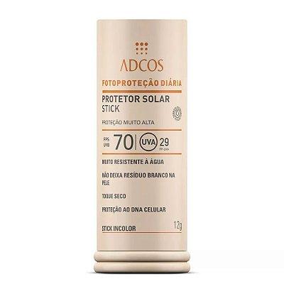 Adcos Filtro Solar Base Stick Fps 70 Incolor 12g