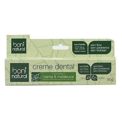 Boni Natural Creme Dental Menta e Melaleuca 90g