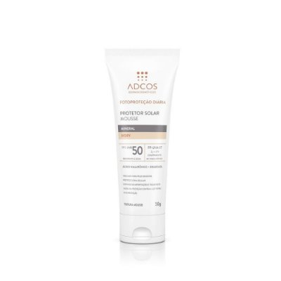 Adcos Protetor Solar Mousse Mineral FPS50 Ivory 50g
