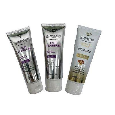 Ultimate Liss Kit Fast Platinum + Argan Oil 3x80ml