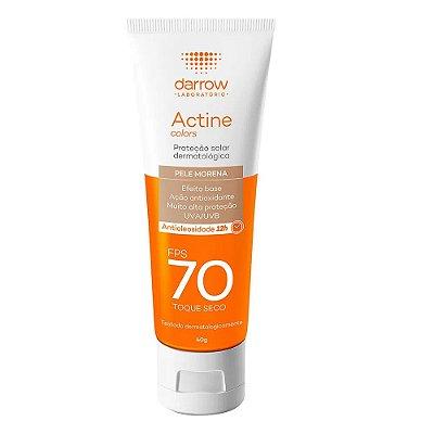 Darrow Protetor Solar Actine Colors Pele Morena FPS 70 Toque Seco 40g