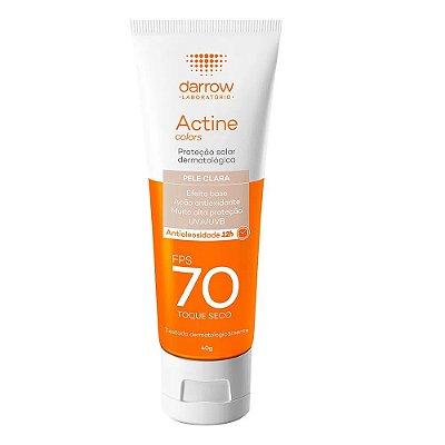 Darrow Protetor Solar Actine Colors Pele Clara FPS 70 Toque Seco 40g